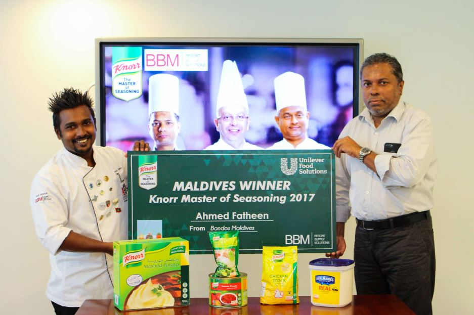 chef fatheen voted winner for maldives in knorr master of