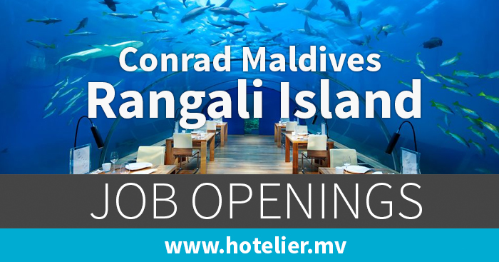Vacancies at conrad maldives rangali island for Conrad maldives precios